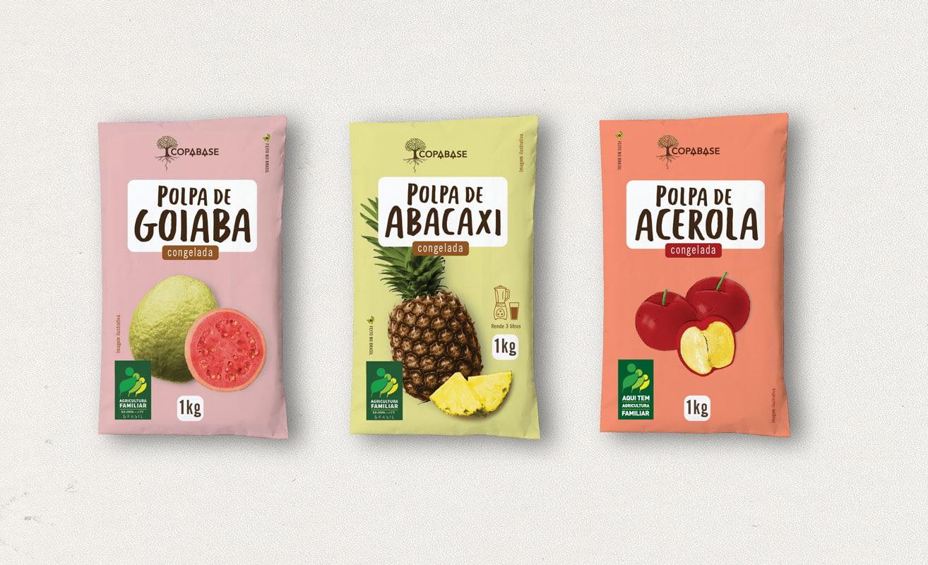 Embalagens polpas de fruta Copabase